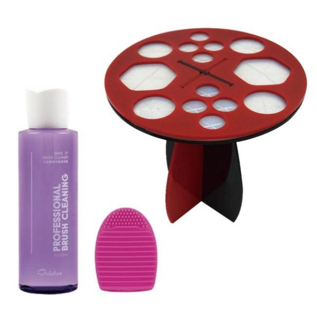 GALATEA葛拉蒂刷具清潔晾曬神器(小組)紅黑