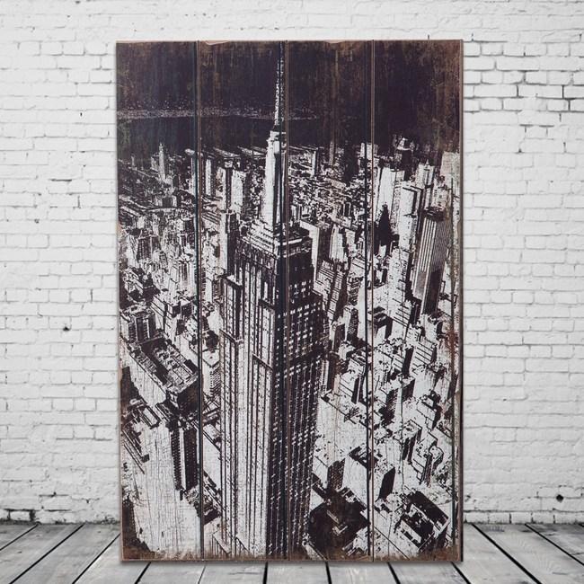 OPUS LOFT純真年代 40X60仿舊木板畫(美國帝國大廈)