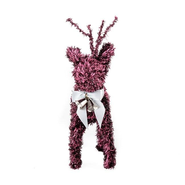 麋鹿擺飾 酒紅 17cm