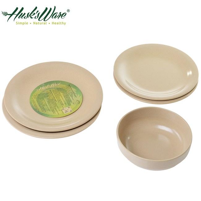 美國Husk's ware 稻殼天然無毒環保餐盤5件組