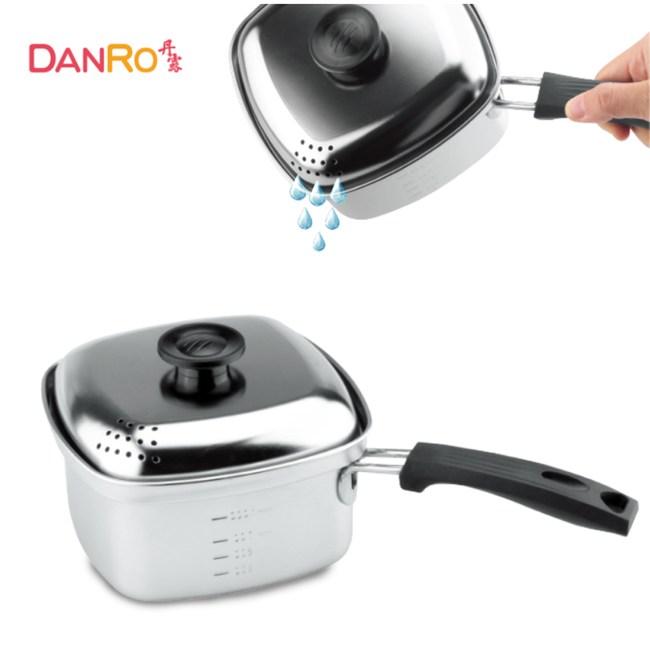 丹露 304不鏽鋼方形煮麵鍋1.7L S304-1708