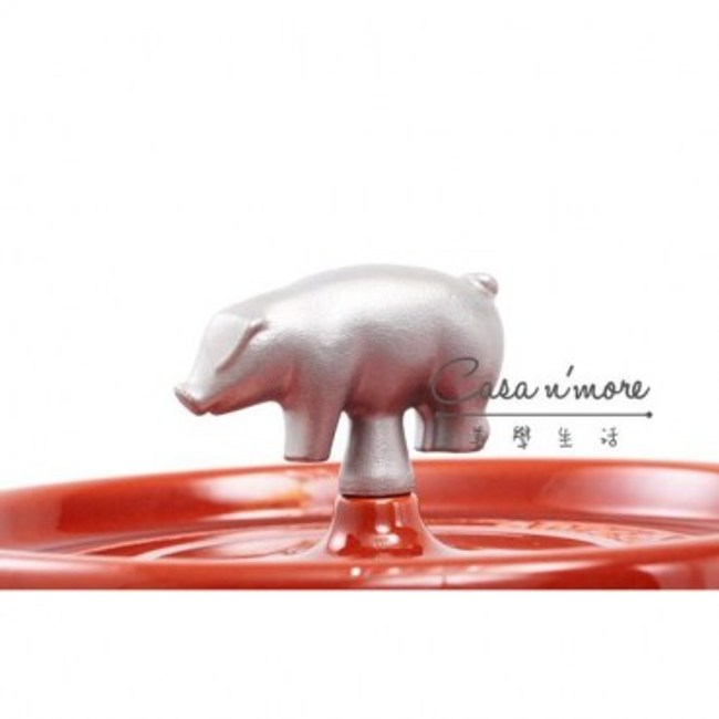 Staub 鑄鐵鍋 動物造型把手 豬