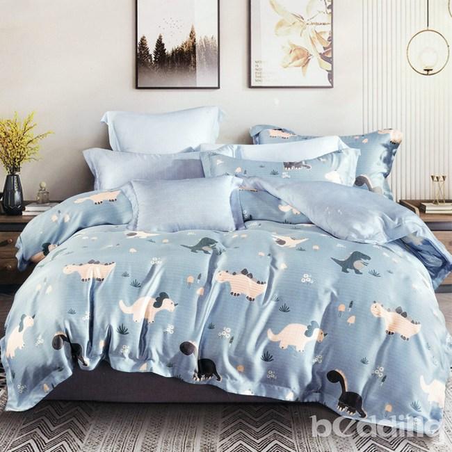 BEDDING-100%天絲卡通四件式涼被床包組-侏儸紀(特大)