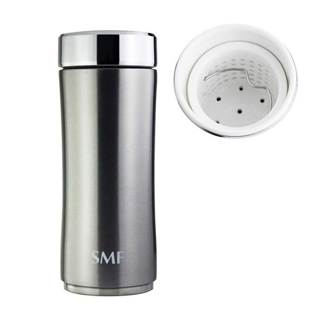 【好禮加碼】SMF濾茶骨瓷保溫杯340ml-星曜銀❤送SMF攜護袋