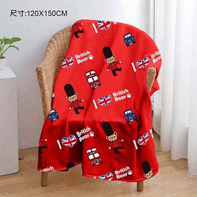 英國熊 120x150cm法蘭絨毯 065TA-F289B