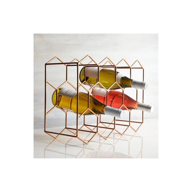 Crate&Barrel Wine Rack 11瓶裝酒瓶架 銅