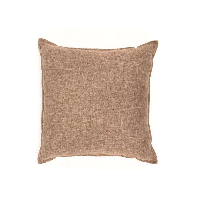 HOLA 新素色織紋抱枕60x60cm 棕色