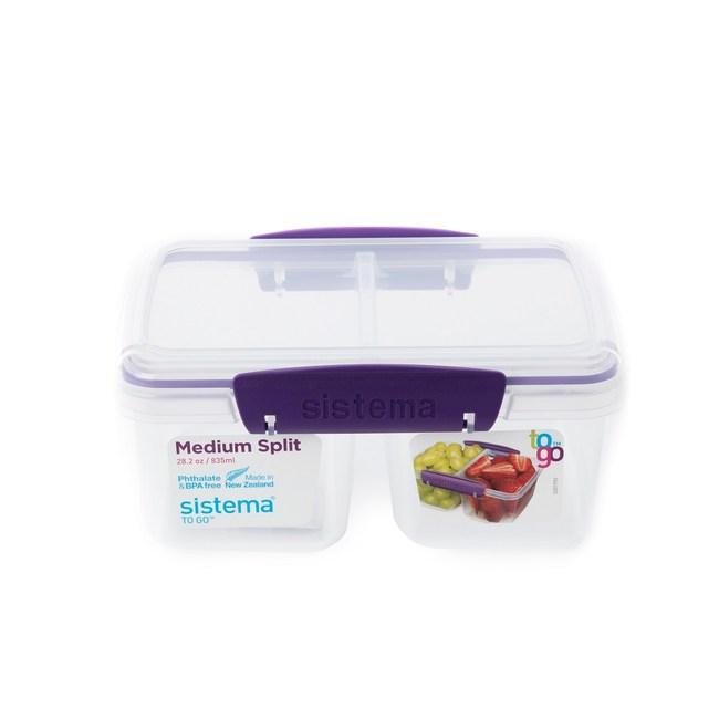 SISTEMA TO GO™ 扣式保鮮盒 2格 835ml 型號21620
