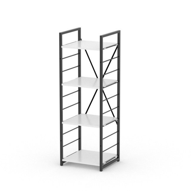 (組)特力屋萊特四層架黑框/白板-40x40x128cm