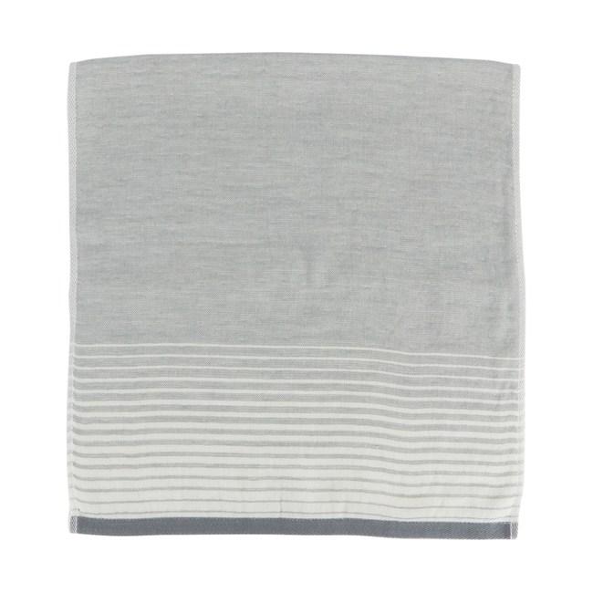 和風無撚紗布漸層浴巾 灰 60x137cm