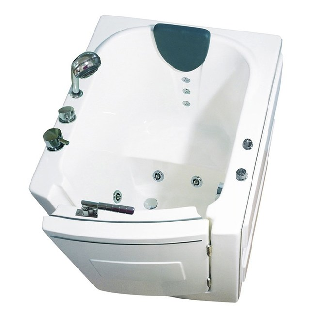【海夫】開門式浴缸 內開式 101-T恆溫水柱按摩款95*85*100