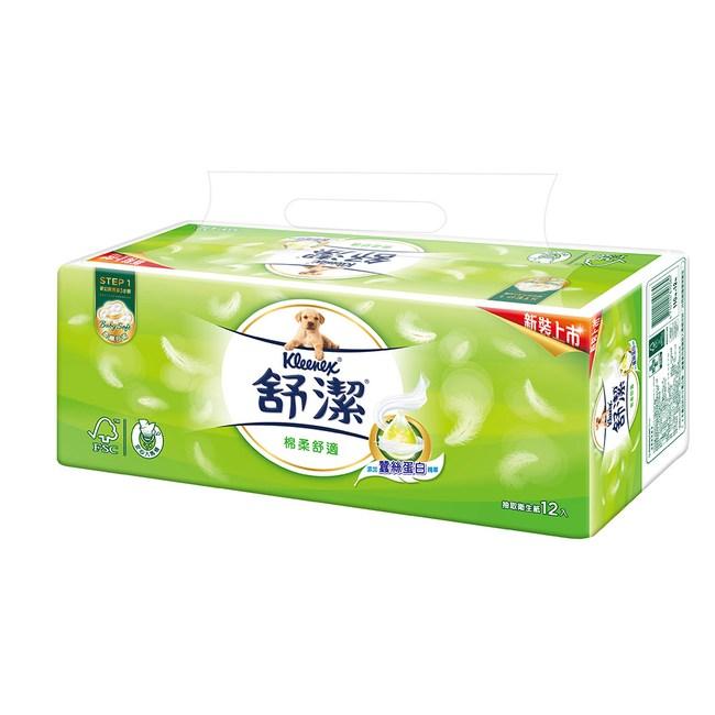 舒潔 棉柔舒適抽取衛生紙 (110抽x12包x6串/箱)