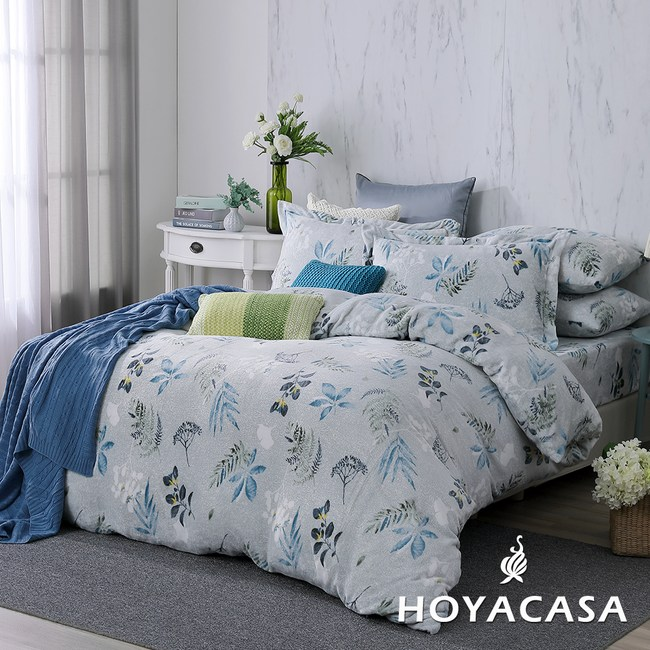 【HOYACASA】香榭漫步單人抗靜電法蘭絨被套床包三件組