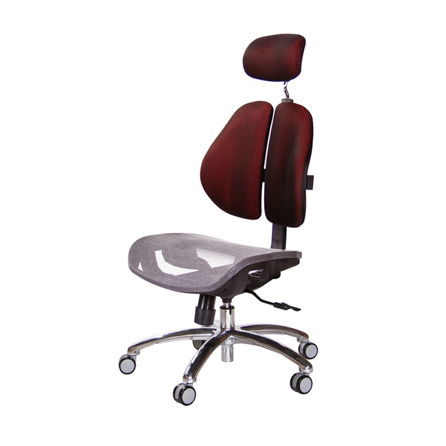 GXG 高雙背網座 電腦椅 (鋁腳/無扶手)TW-2804 LUAN訂購後備註顏色