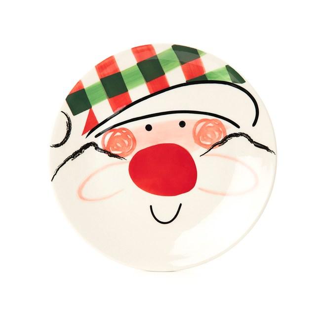 HOLA 耶誕派對餐盤20cm 聖誔老人