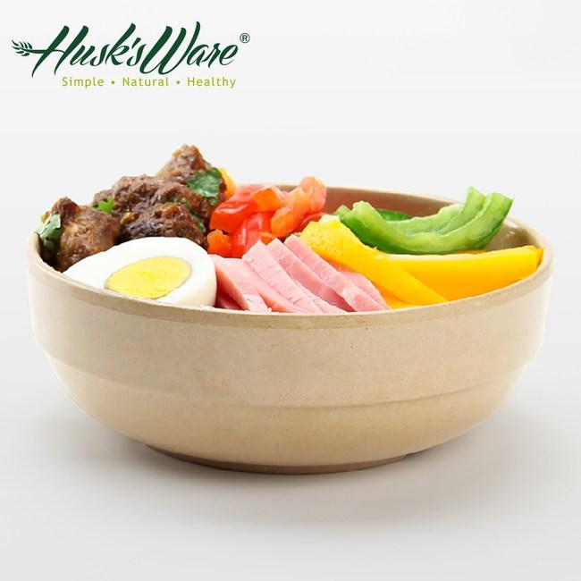 美國Husk's ware 稻殼天然無毒環保平底圓碗6吋(5入組)