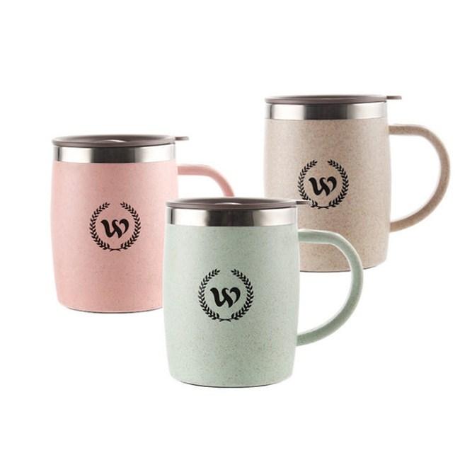 【PUSH!】304不鏽鋼保溫杯帶蓋(420ML北歐麥一入)E102