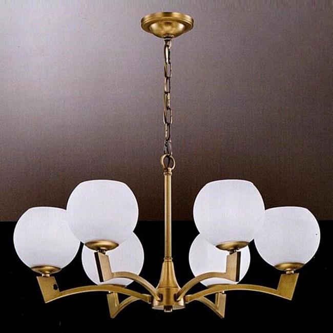 YPHOME 金屬玻璃吊燈六燈 S80083H