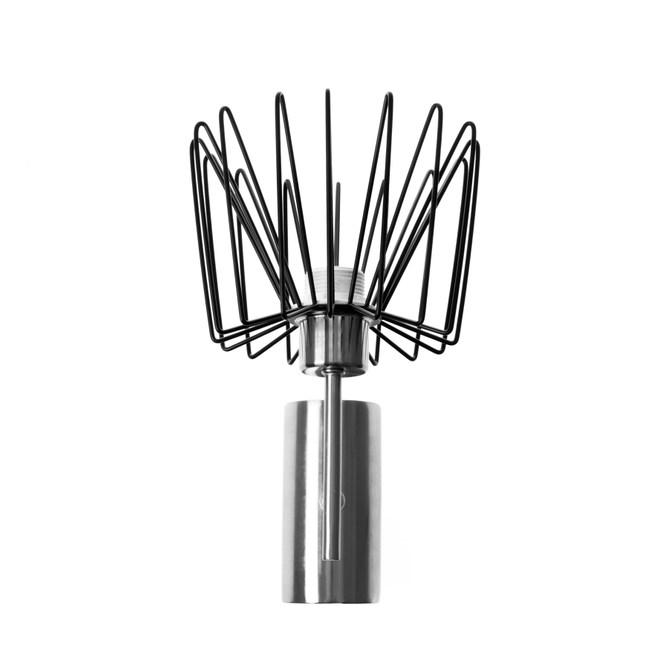 (組)特力屋萊特霧銀壁燈鐵線黑燈罩