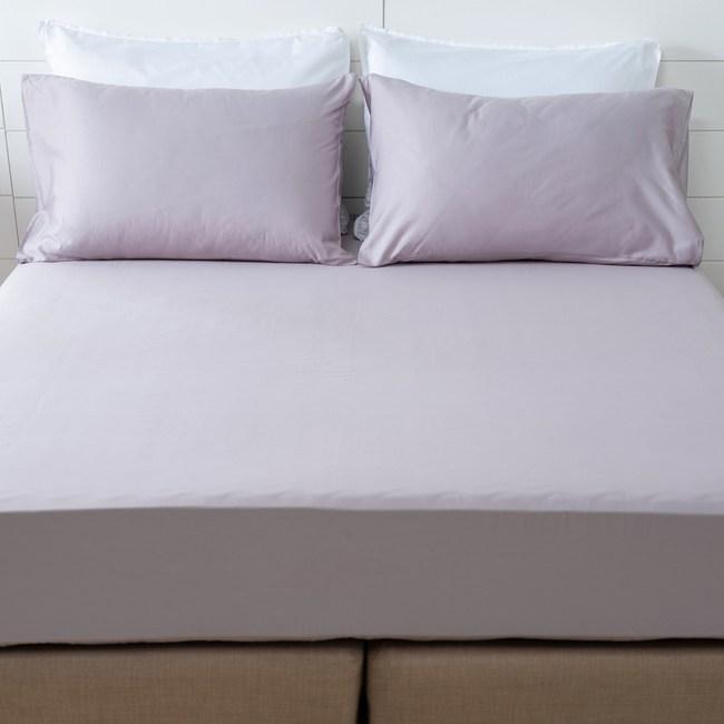 (組)素色純棉床包枕套組雙人星灰
