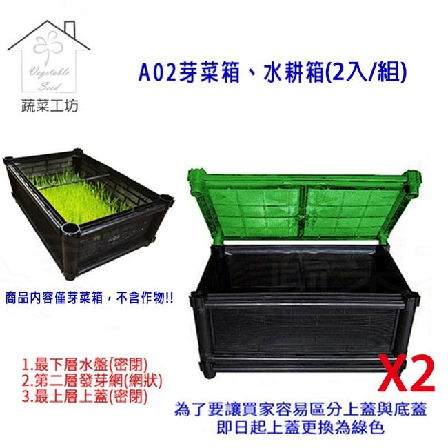 A02芽菜箱、水耕箱、家庭式多用途芽菜培育箱(2入/組)