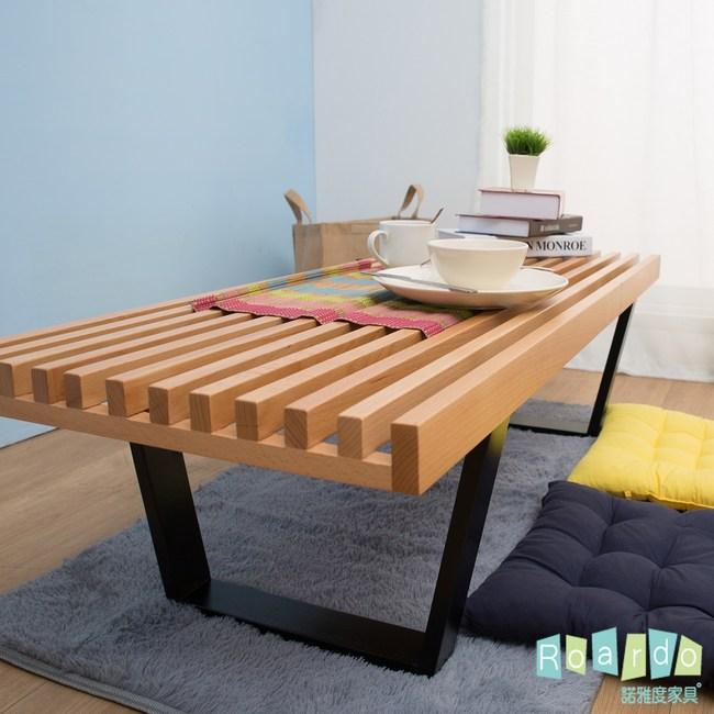 【諾雅度】Jackie杰基木作實木板凳型茶几