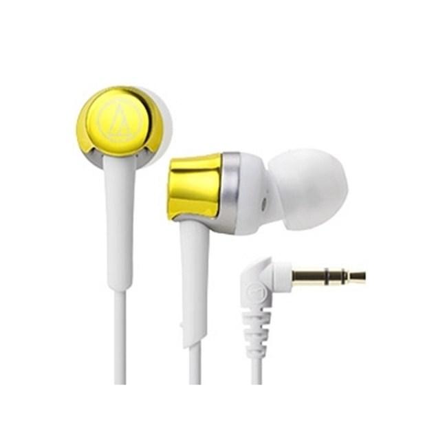鐵三角 ATH-CKR30 黃色 輕量耳道式耳機 輕巧機身