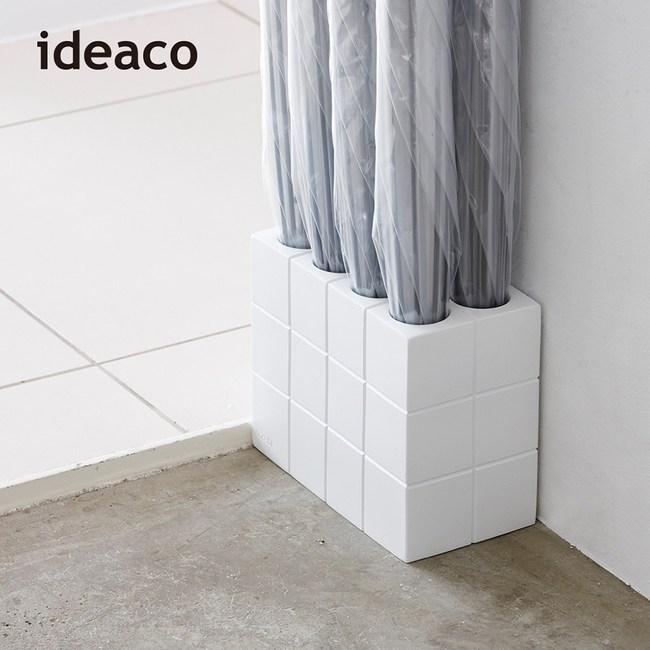 【日本IDEACO】時尚8孔雨傘架白