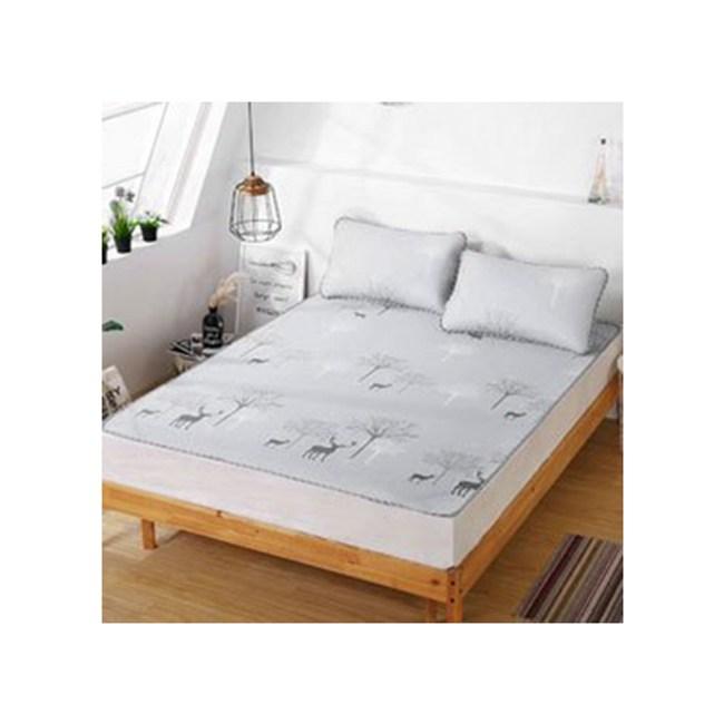 雙層涼感冰紗透氣床墊+枕墊雙人組