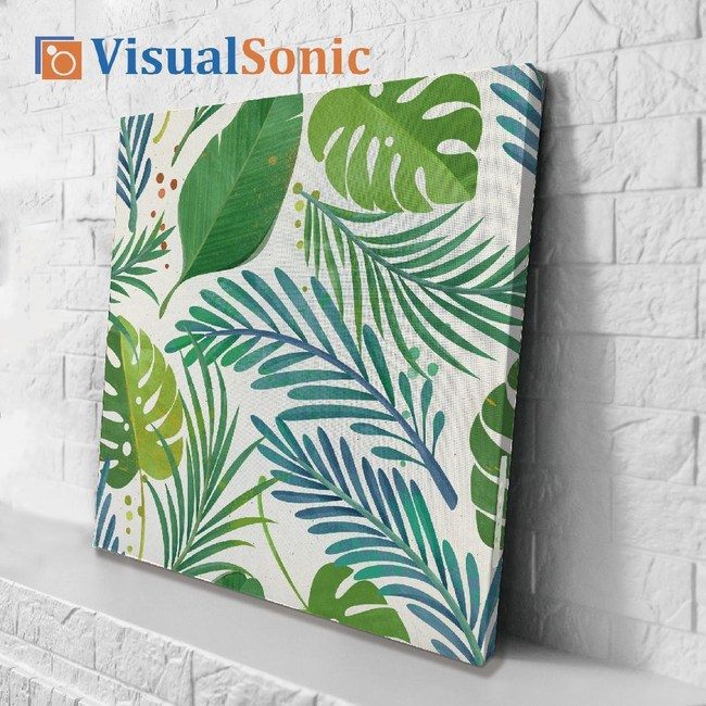 VISUAL SONIC超薄藍牙畫布音箱 Jungle Leaf