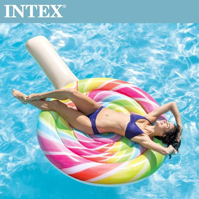 【INTEX】棒棒糖女孩浮排(208*135cm)(58753)