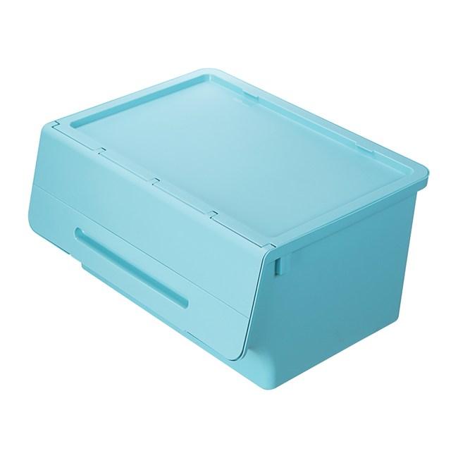 BQ865-2 箱根直取式整理箱65L(水藍)