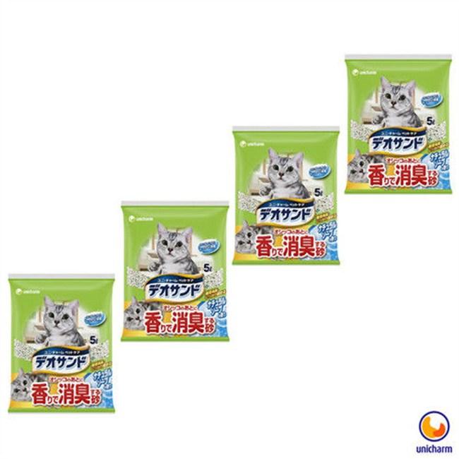 Unicharm 日本消臭大師消臭礦砂肥皂香 5LX4包