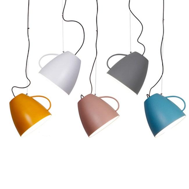 HONEY COMB 北歐風咖啡杯單吊燈  五色斜罩款TA8931 / 粉色