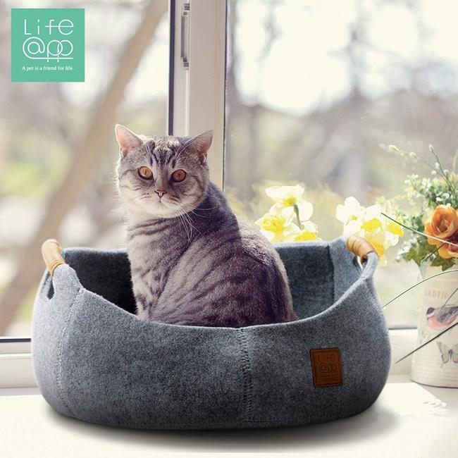 【Lifeapp】貓咪籃子-氣質灰(適用貓咪及小型犬)氣質灰