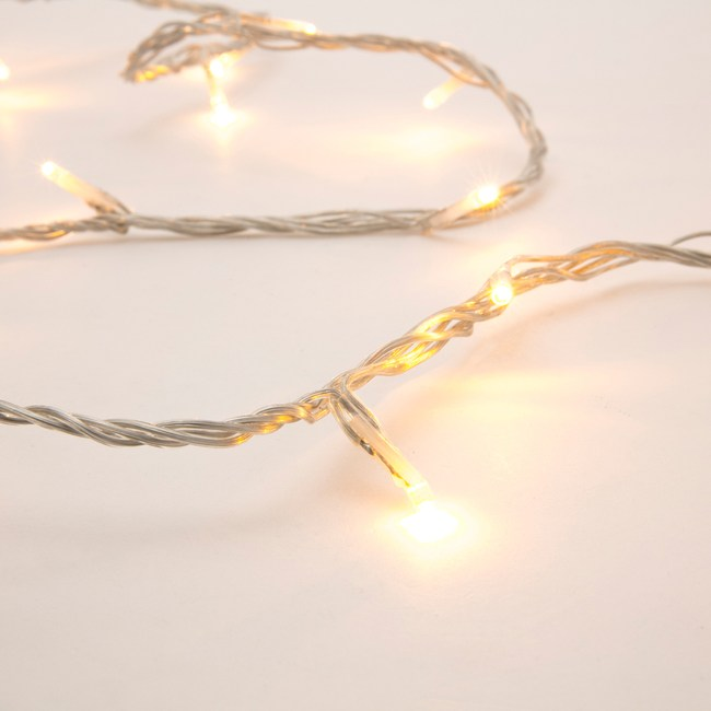 180燈LED晶鑽跑馬燈 暖白(透明線)