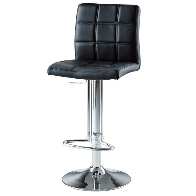 【YFS】妮娜皮面升降吧台椅39.5x46.5x111cm(三色可選)黑