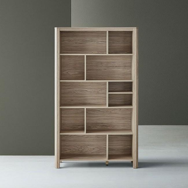 林氏木業北歐簡約設計高書櫃 HS2X-灰木色