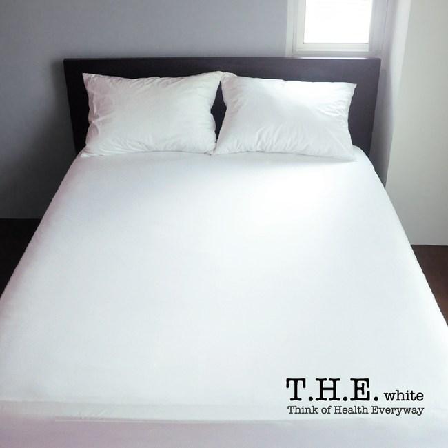 T.H.E.輕透零感床包式防水保潔墊-雙人標準床用 長效物理防螨 超輕薄無噪音