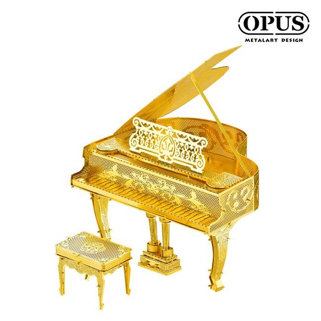 OPUS 3D立體金屬拼圖/DIY樂器模型/益智玩具(鋼琴)