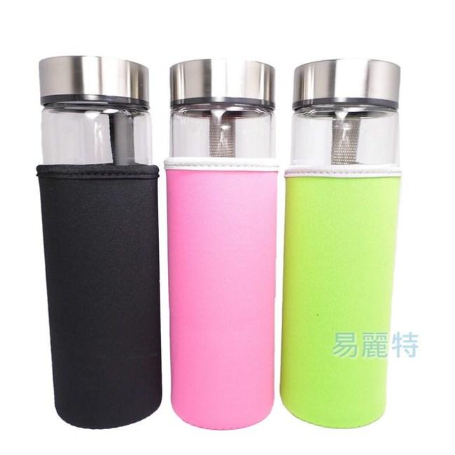 【易麗特】加大寬口耐熱玻璃隨身瓶(3入)