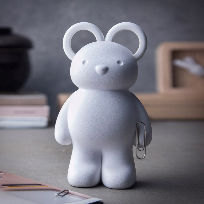 QUALY|泰迪小熊-剪刀組(白)