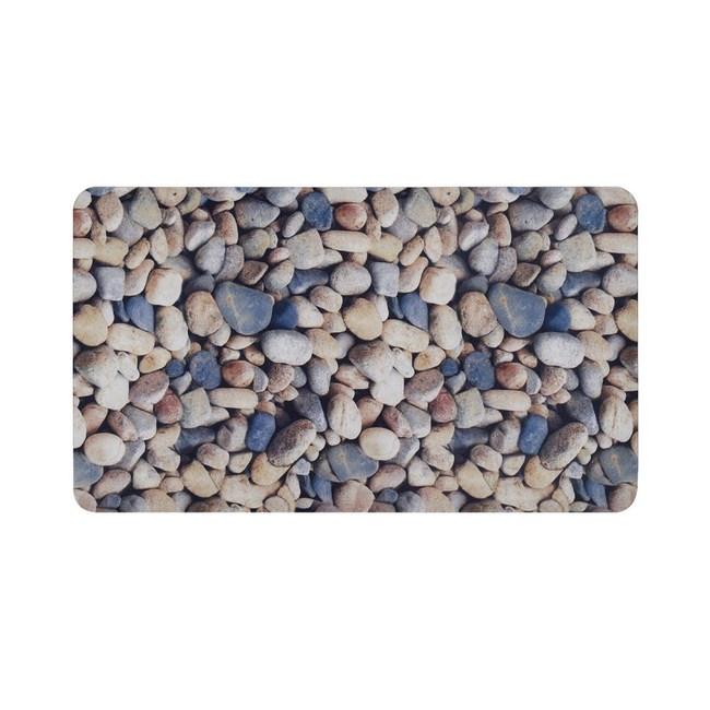高級衛浴覆布防滑地墊 彩繪石頭