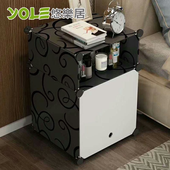 【YOLE悠樂居】隨心DIY百變組合角落置物櫃-1列2層(A-5)