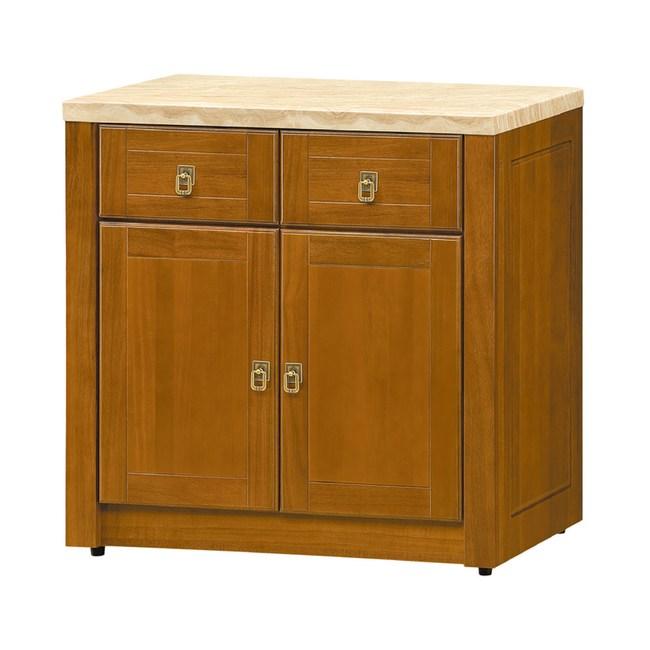 【YFS】尤萊樟木2.8尺石面餐櫃下座-85x44x82cm