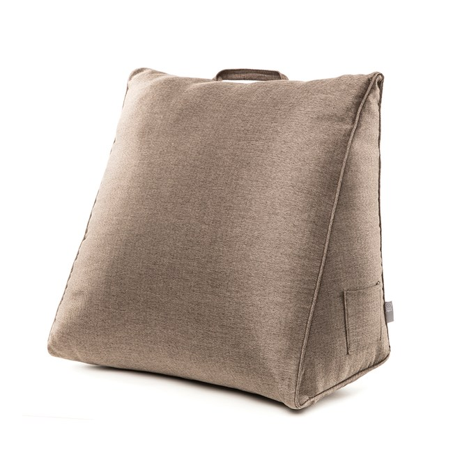 HOLA 素色織紋三角大靠墊57x50x30cm棕色