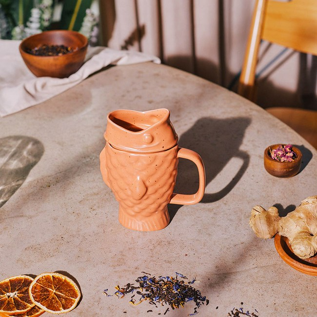 DOIY 鯛魚燒泡茶杯(橘)