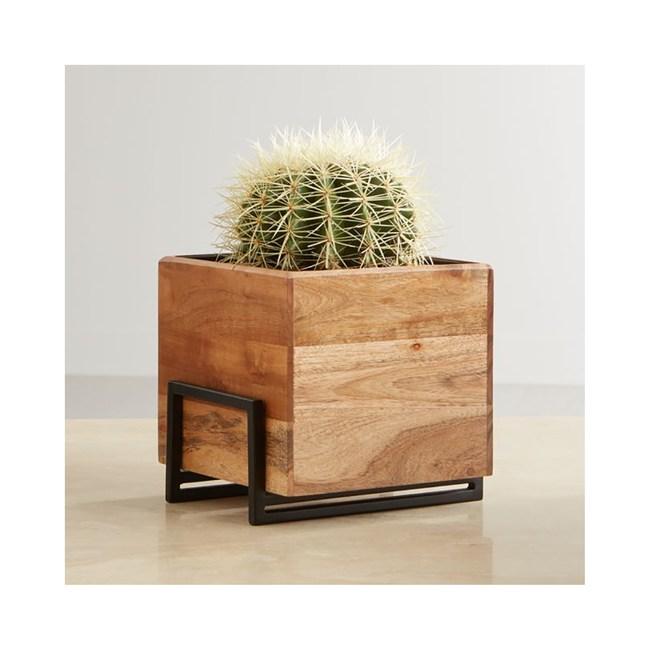 Crate&Barrel Arcaydia 桌上型木質花器 (M)