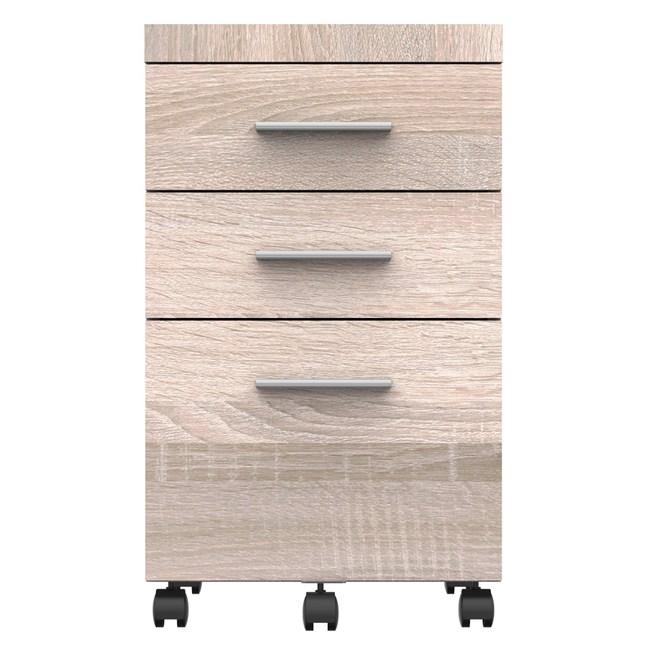 雅博德活動抽屜櫃 淺木色 採E1板材