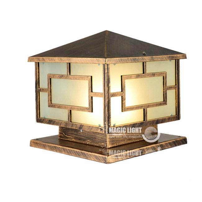 【光的魔法師 】戶外柱頭燈 中字屋子造型 柱子燈 庭園燈